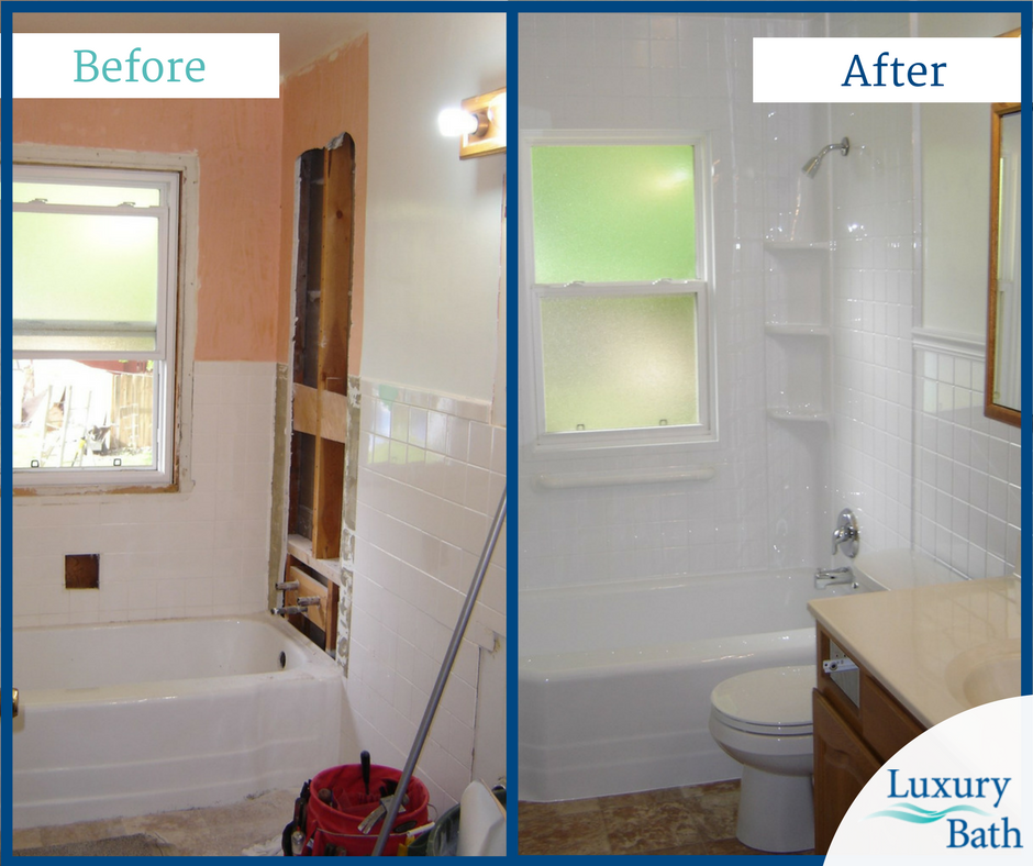 Outdated Bathroom Gutted And Remodeled Bathroom Renovations Bathrooms Remodel Bathroom Renovation
