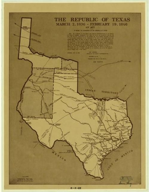 Map Of Texas 1836.Pin By Peggy Nation On Texas My Texas Republic Of Texas Texas