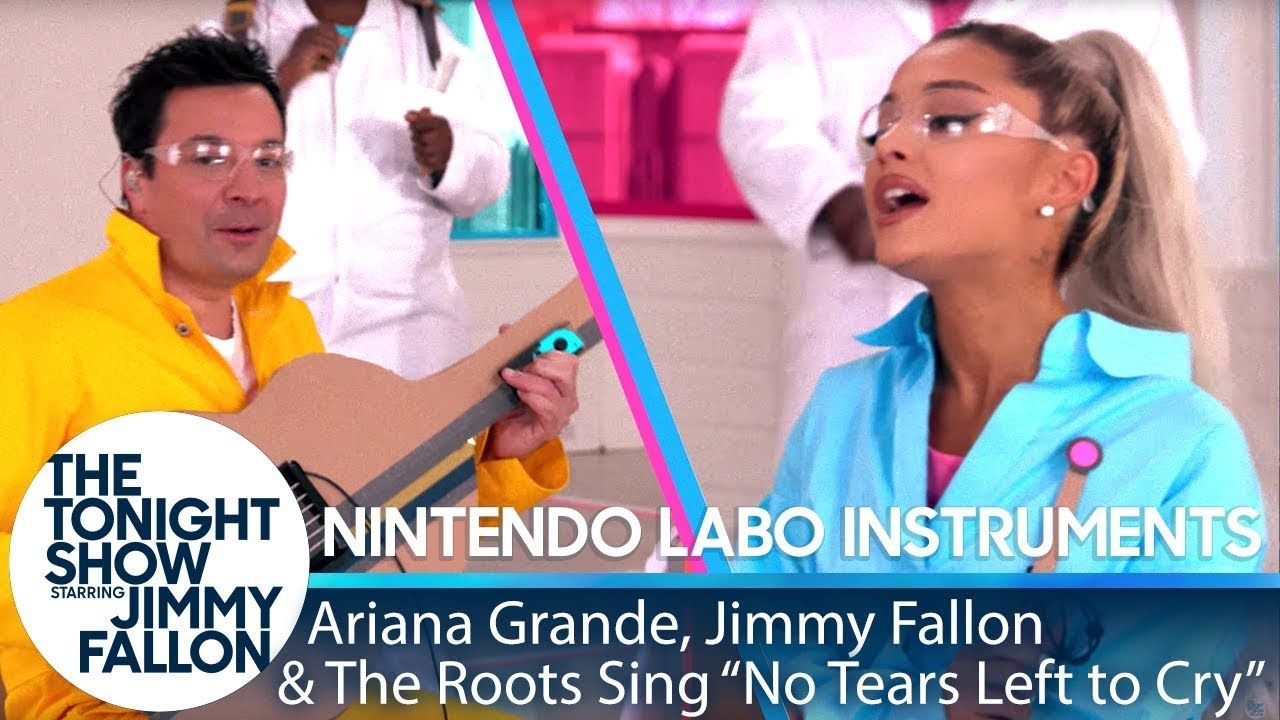 Ariana Grande Jimmy The Roots Sing No Tears Left To Cry W