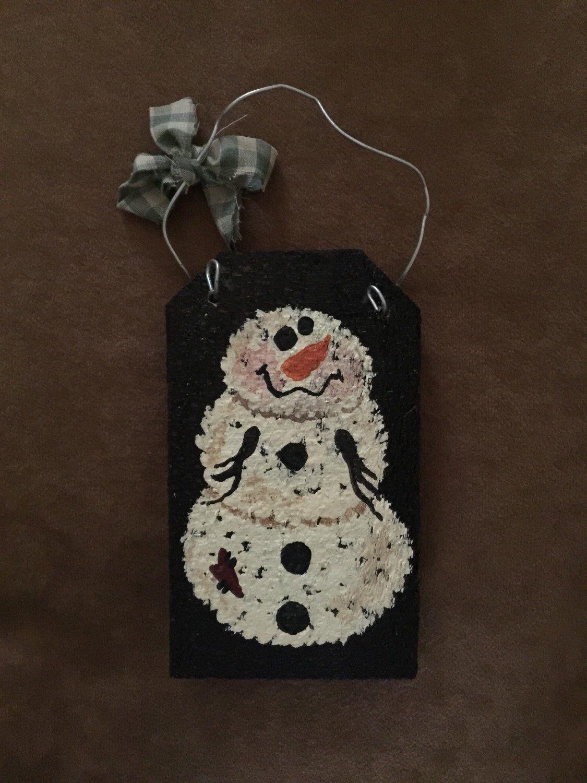 snowman ornament by CallMeCutesy on Etsy https://www.etsy.com/listing/243271197/snowman-ornament