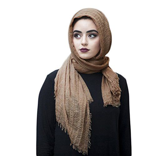 3e4d4072fb2d SAFIYA Hijab pour femmes musulmanes voilées I Foulard voile turban écharpe  pashmina châle islamique I Coton I 90x180cm