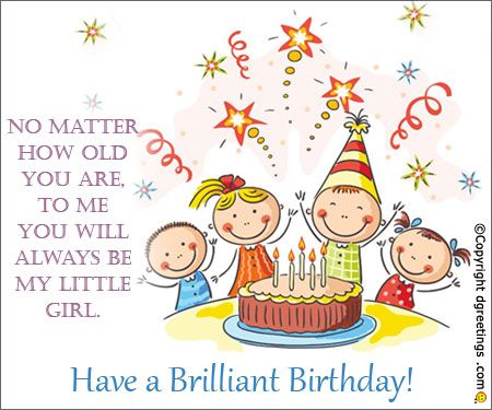 Wish your daughter a very happy birthday by sending her a fabulous - birthday cake card template