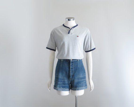 90s Tommy Hilfiger T Shirt, Womens Aesthetic Tshirt, Vintage