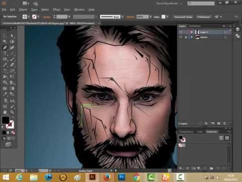 How to make Crack style Vector with adobe illustrator CC