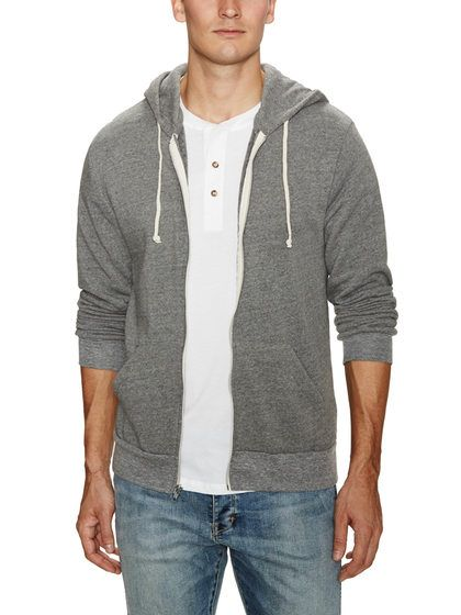 Full Zip Fleece Hoodie by Alternative Apparel at Gilt