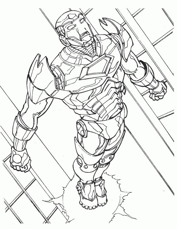 Iron Man Coloring Pages For Kids Printable Online 9