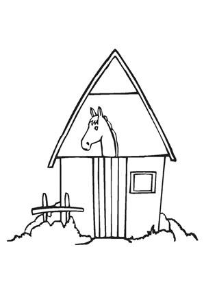 Ausmalbild Pferdestall Ausmalen Ausmalbild Pferdestall