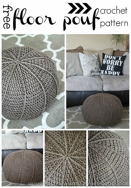 elegant ravelry crochet floor pouf pattern pattern by. Black Bedroom Furniture Sets. Home Design Ideas