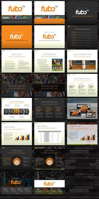 exclusive power point template for soccer tv channel by