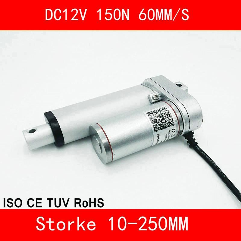 Linear Actuator 12v Dc Motor 150n 60mm S Stroke 10 250mm Linear Motion Controller Us 65 82 Linear Actuator Smart Appliances Aluminium Alloy