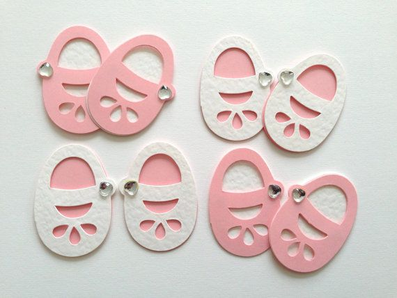 large baby girl lettering die cuts card toppers scrapbook baby shower newborn