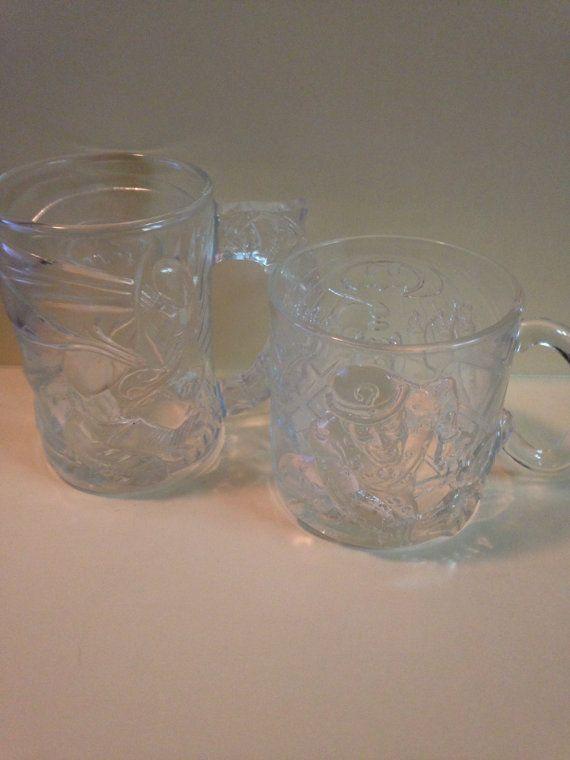 Two McDonalds Batman Forever glass mugs by DelightfullyDestiny