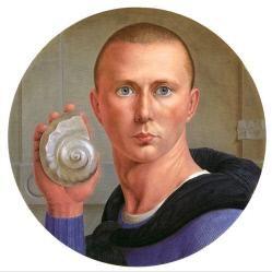 "George Tooker, ""Self-Portrait of the Artist,"" (1947), tempera on panel"
