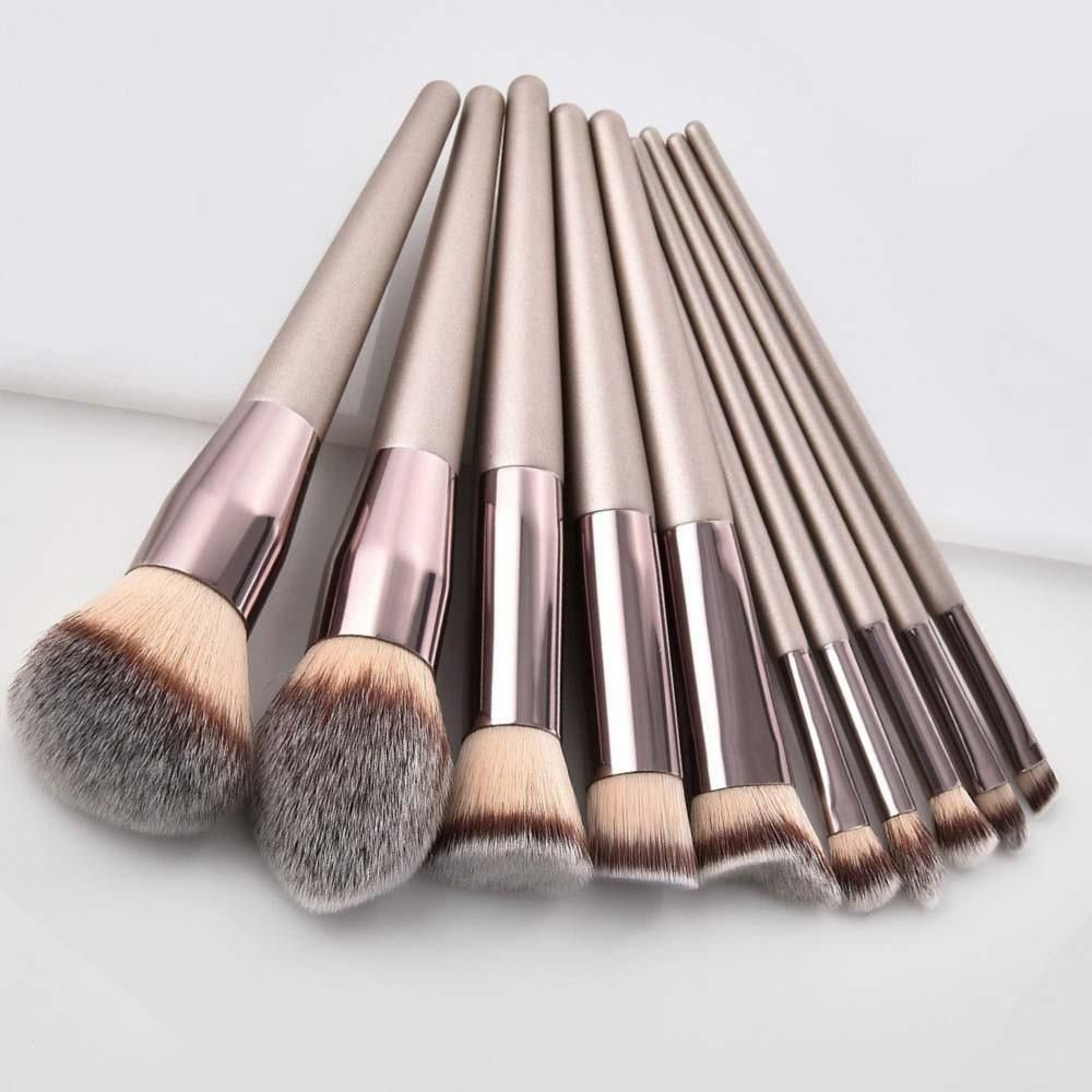 Photo of Champagne Gold Makeup Brushes