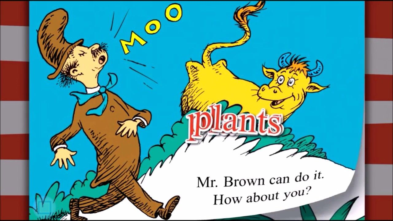 Mr Brown Can Moo! Can you? by Dr Seuss iOS Kids Read Learn