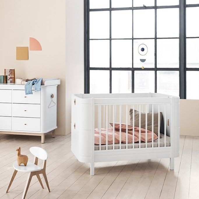 Style Of Wood Mini Cot Bed Set 0 9 years in White by Oliver Furniture Simple - Awesome baby bedroom set Amazing