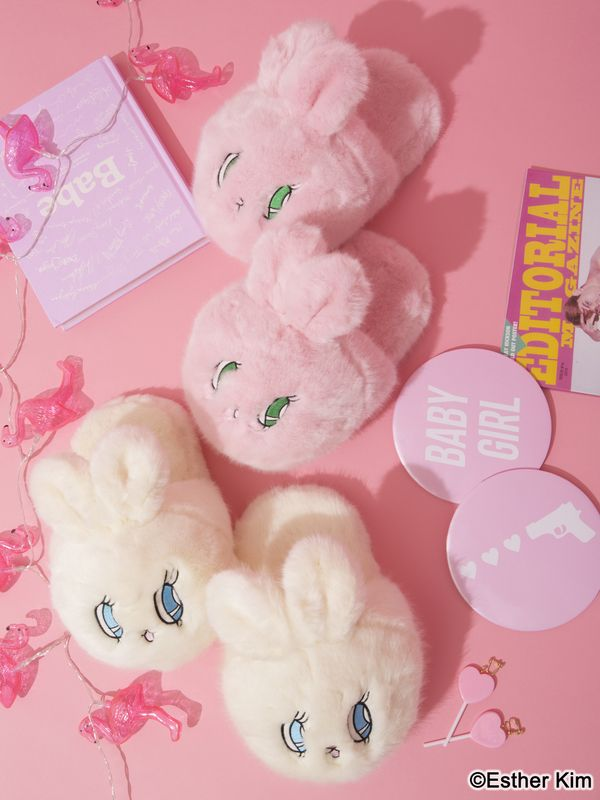 bbbab9a9d14 Esther Kim Bunny Slippers