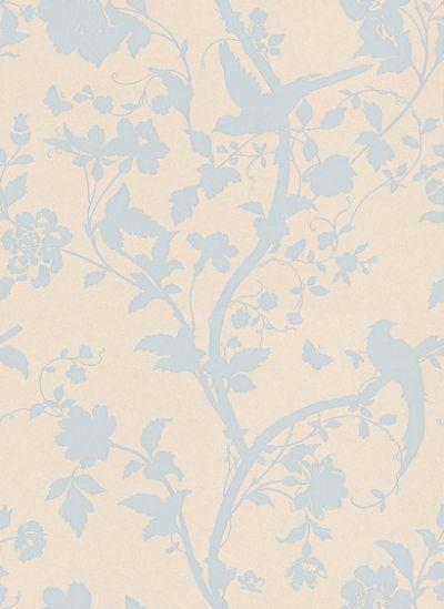 I LOVE LOVE This Paper Oriental Garden Duck Egg I - Duck egg blue bedroom wallpaper