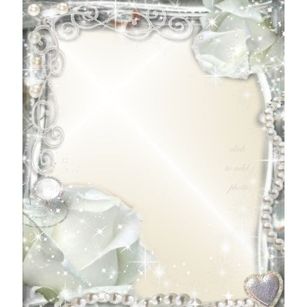 Ivory Wedding Frame Imikimi Liked On Polyvore Featuring Backgrounds Frames