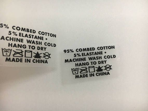 Iron on heat transfer labels Heat transfer Vinly labels