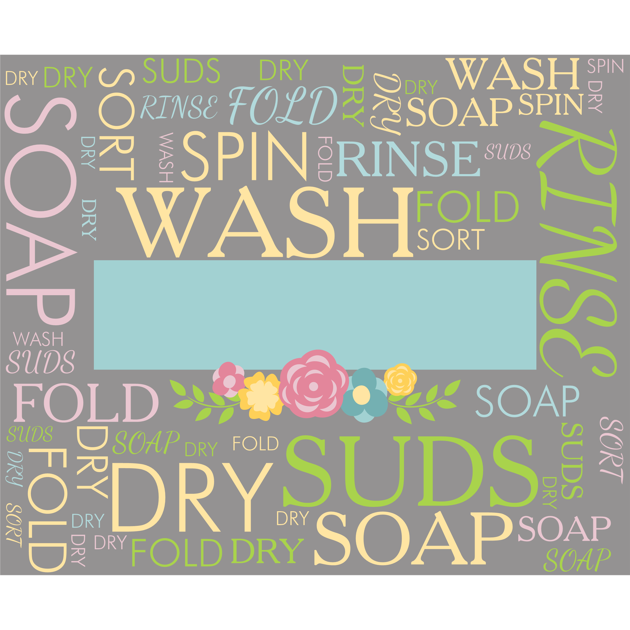 Laundry Word Art Laundry Personalized Spring Wordart Slate  Shop  Home
