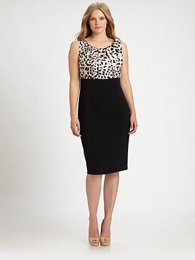 Marina Rinaldi, Salon Z - Plus Size Dulcinea Dress - Saks.com | Plus ...