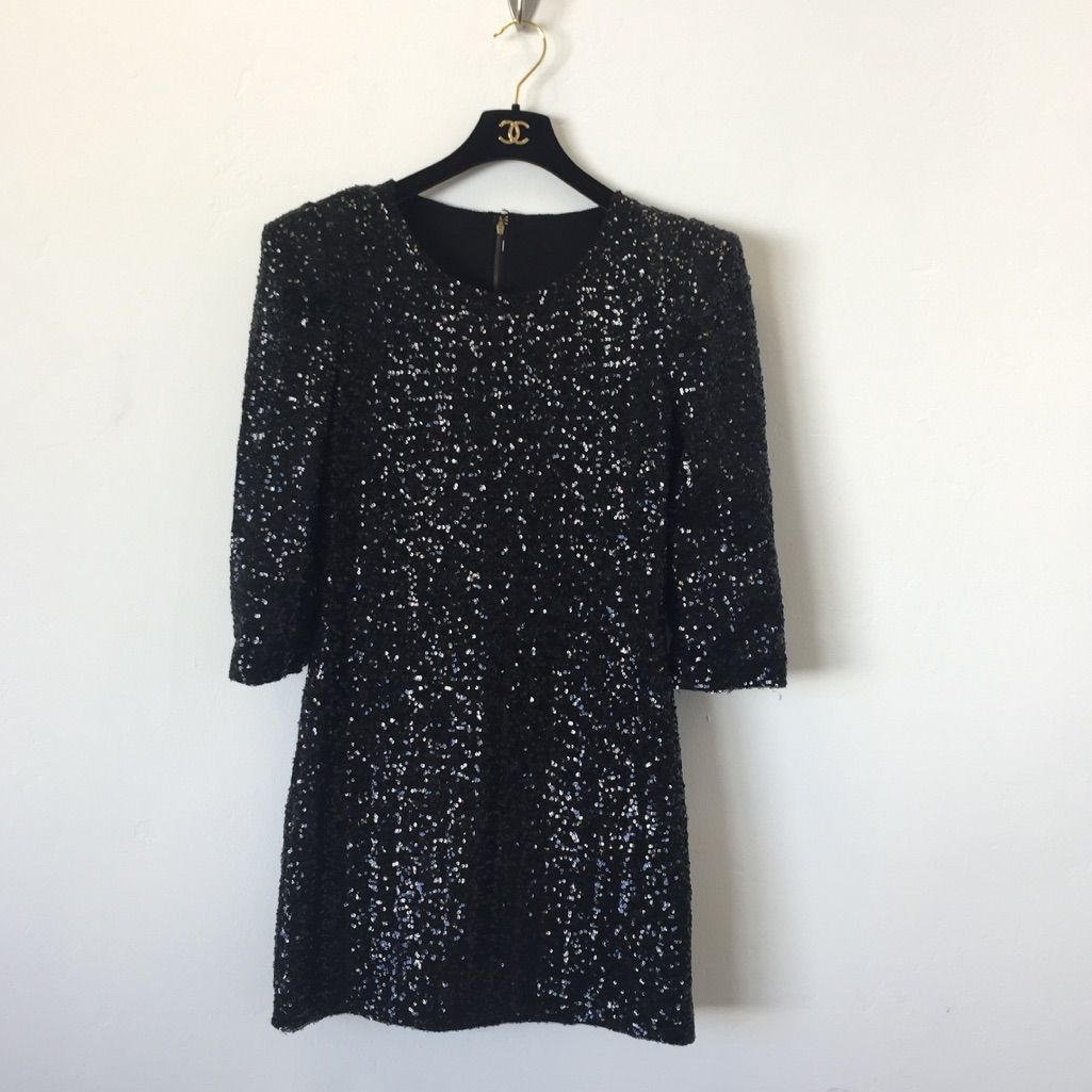 Lucca couture black sequin dress size small new black sequin dress
