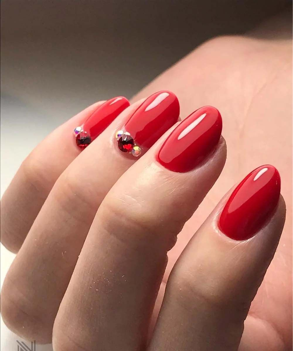 Adorable Nail Art: Beautiful And Adorable Red Nails Trend 2019