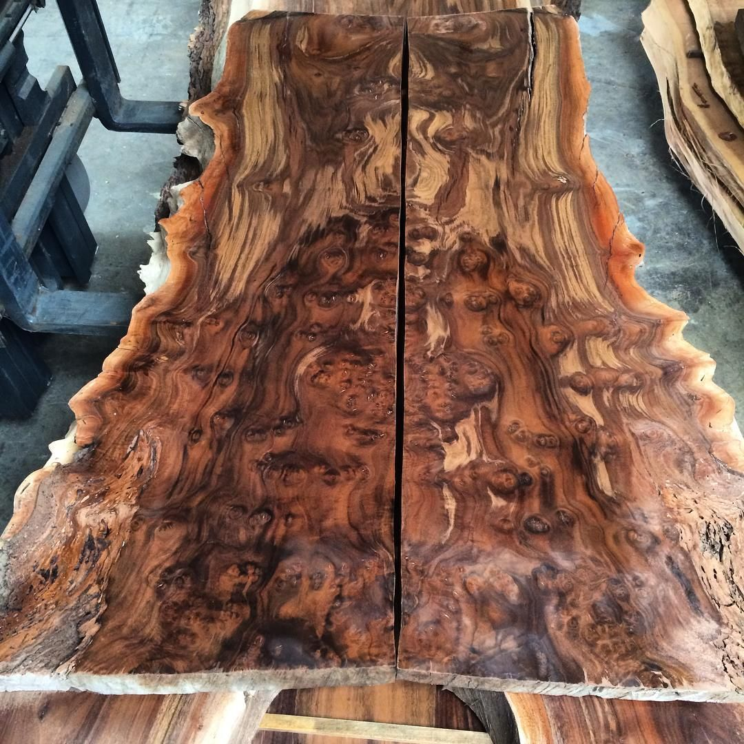Here S The Other Claro Walnut Burl Bookmatch Slab Set We