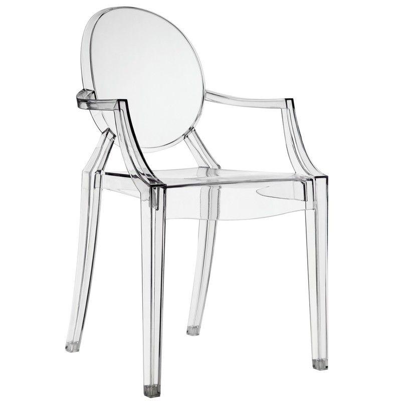Casper arm chair clear dining chairs dining arm chair