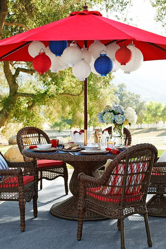 8 Quick Cheap Decoration Ideas For Your 4th Of July Garden Party Gardens Landscapes 1001 Gardens 4th Of July Decorations 4th Of July Party 4th Of July