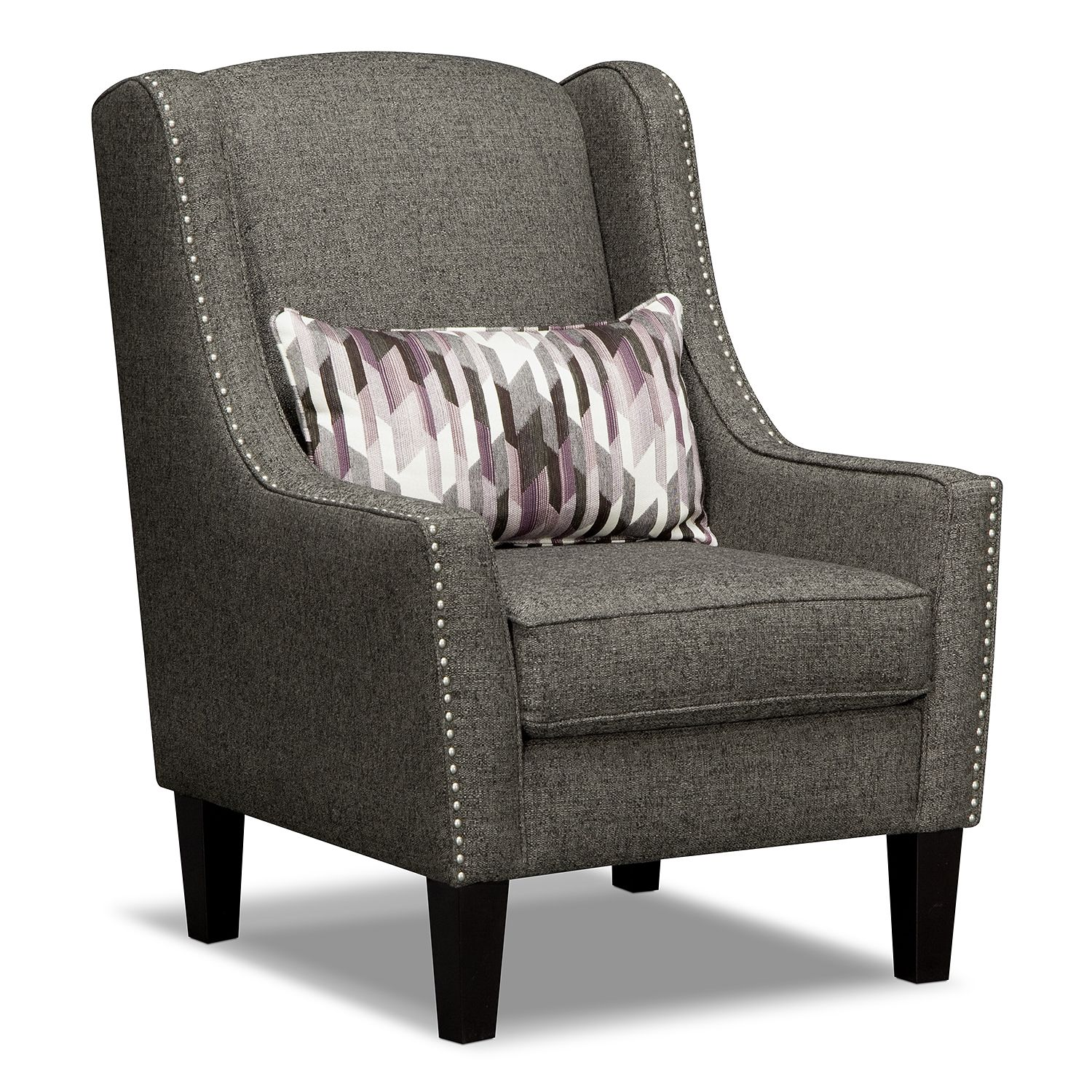 Ritz 2 pc living room w accent chair american signature for Sofa and 2 chairs living room