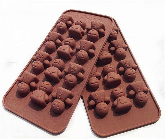Super Cute 12 Baby Moods Silicone Chocolate Mold Silicon