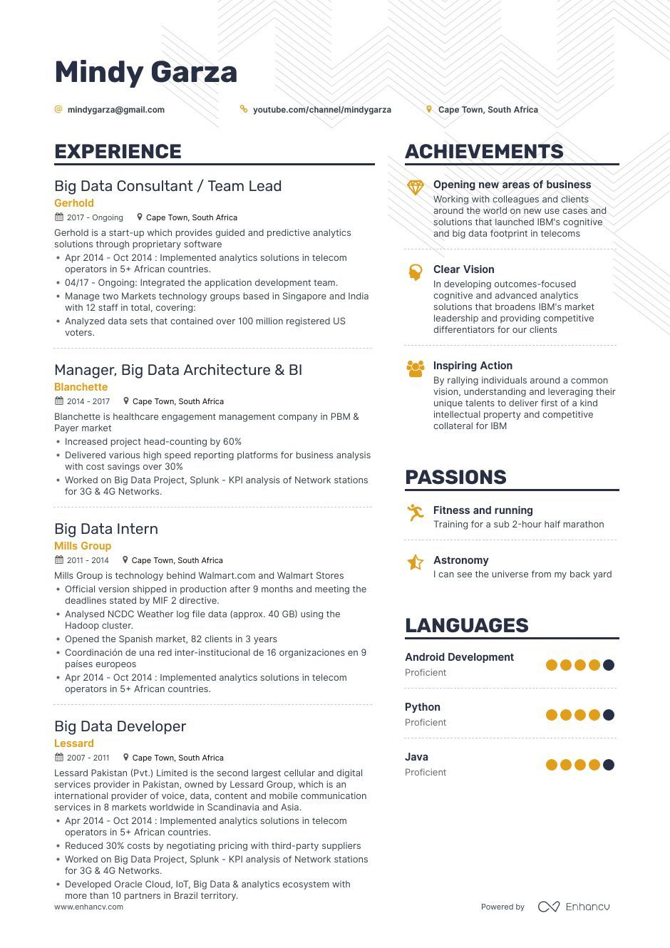 Big Data Resume Example And Guide For 2019 Resume Examples Big Data Resume