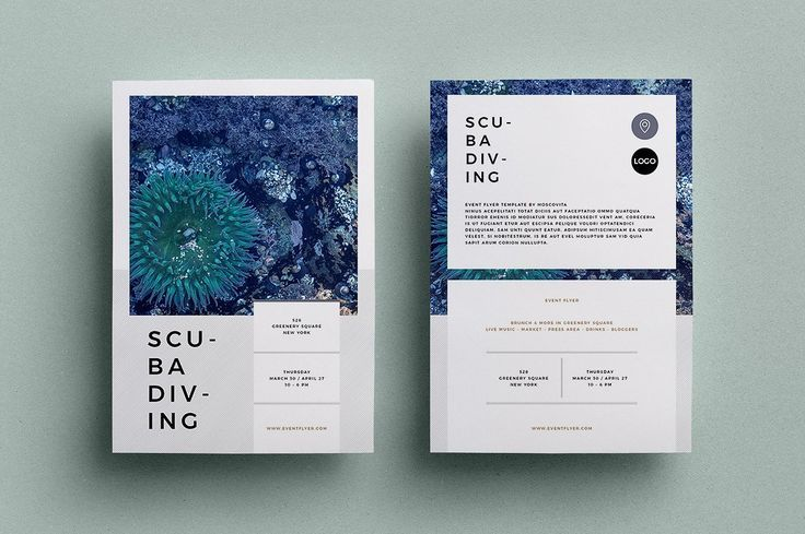 Event Flyer by Moscovita on Creative Market Printing card template with one of t...