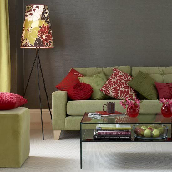 Living Room Color Palette Keep The Red Accent Running Through The Rooms To Tie All The Rooms Living Room Green Living Room Colors Living Room Red