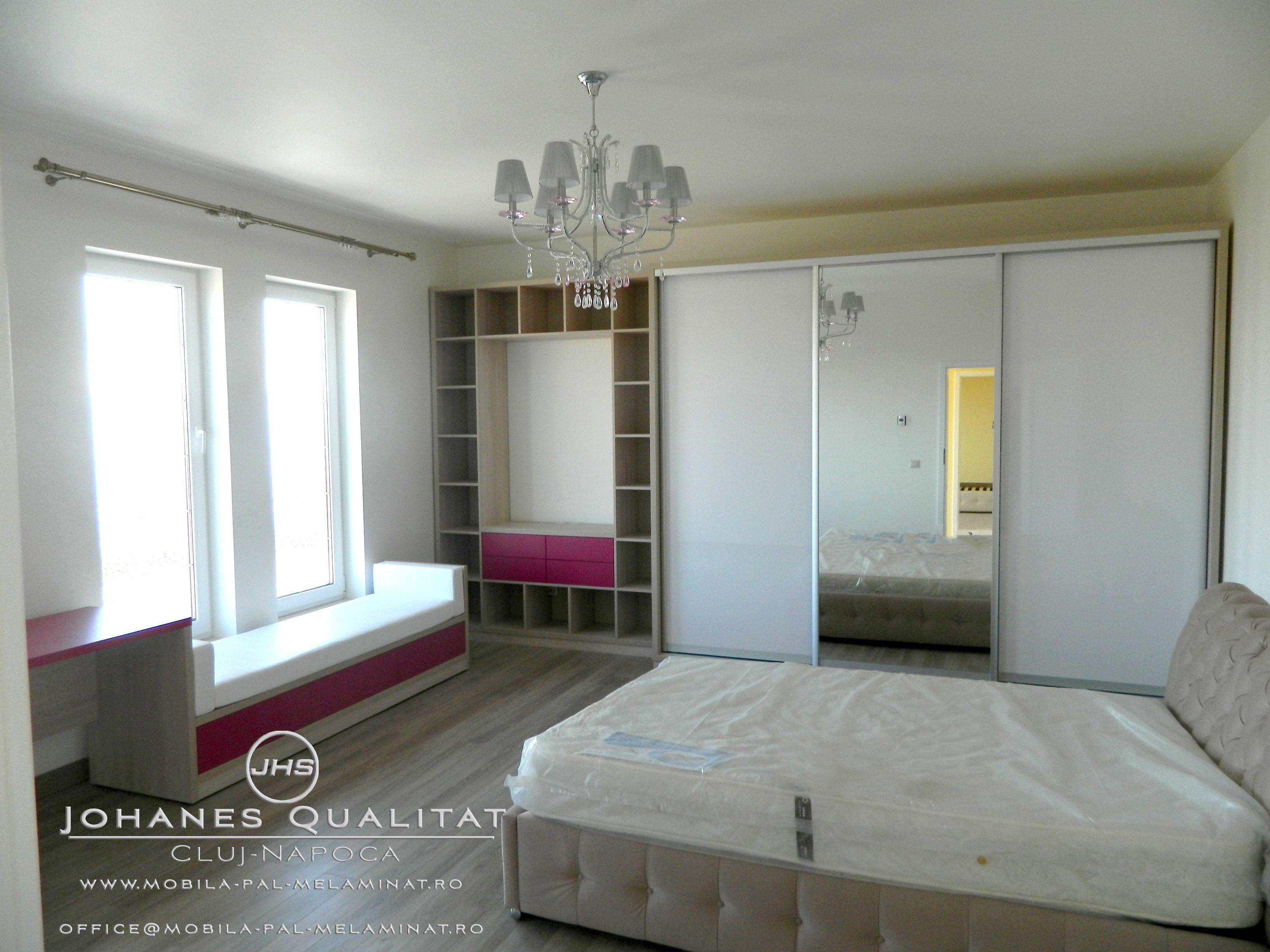 DORMITOARE Mobila Dormitor Johanes Qualitat Cluj PAL Melaminat Personalizata La Comanda Bucatarie