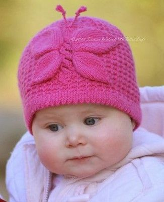 Knitting Pattern For Lady Butterfly Hat And More Baby Hat Knitting