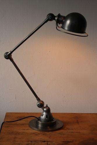 Lampe bureau Jielde 2 bras polie graphite | Lampe de bureau