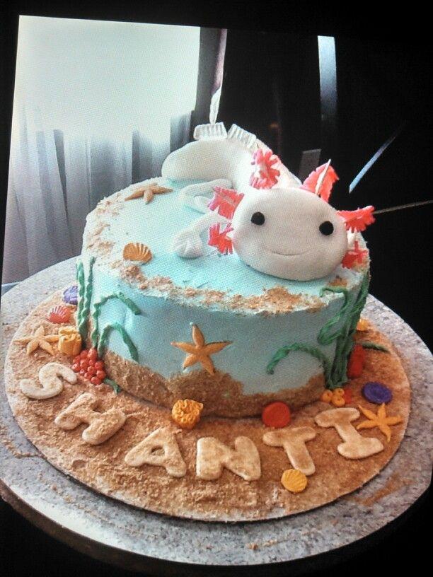 Axolotl Fish Themed Cake Little Batch Of Heaven In 2019