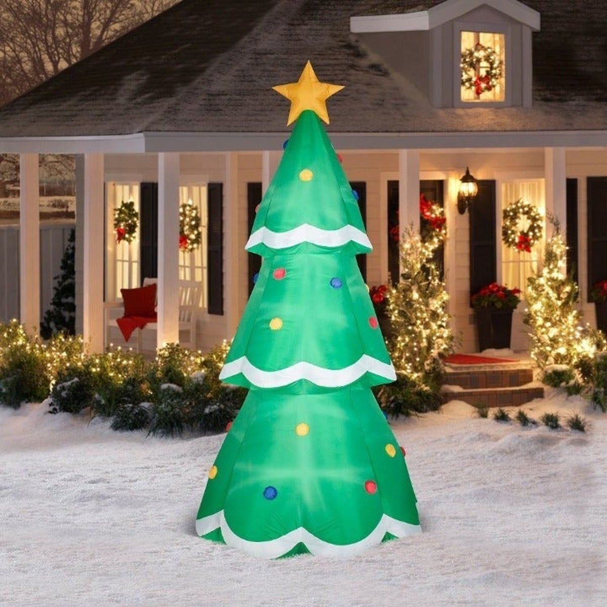 Inflatable 10 Christmas Tree By Gemmy Inflatable Christmas Decorations Inflatable Christmas Tree Outdoor Christmas Decorations