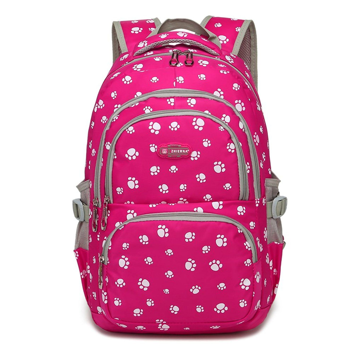 9f1eebf12d Dog Pawprint Cat Fingerprint Backpack for Elementary or Middle School Girls    For more information