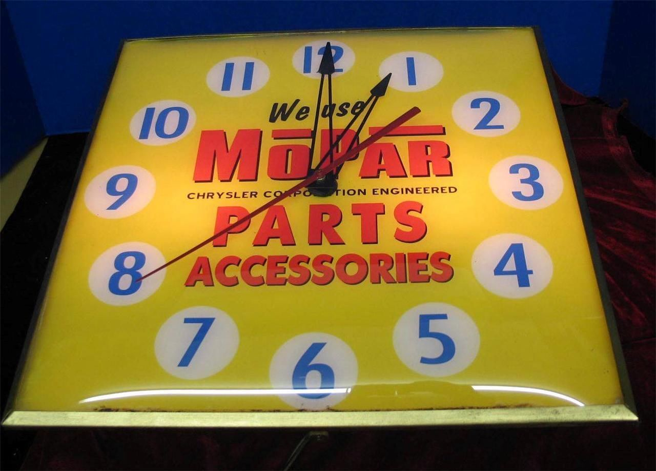 Antique Mopar Clock (Old Vintage Auto Parts & Accessories ...