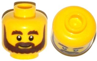 3f9683533 BrickLink - Part 3626cpb1057 : Lego Minifig, Head Beard Brown, Bushy  Eyebrows, Grin and White Pupils Pattern - Stud Recessed [Minifig, Head] -  BrickLink ...
