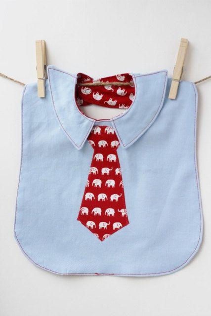 Future Executive Business Bib with Red and White Elephant Tie. $15.00, via Etsy.