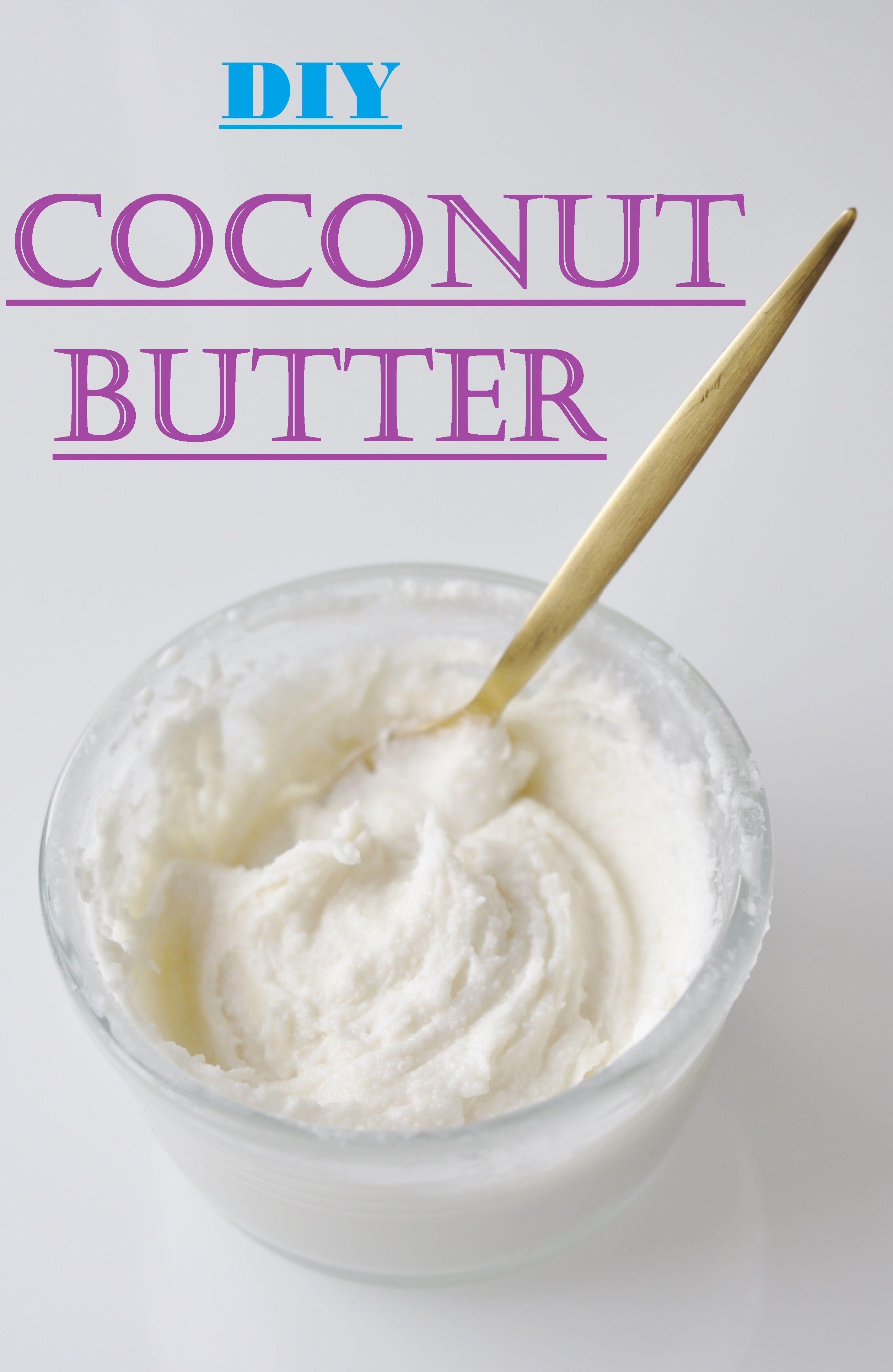 Kokosnuss Butter selbst gemacht