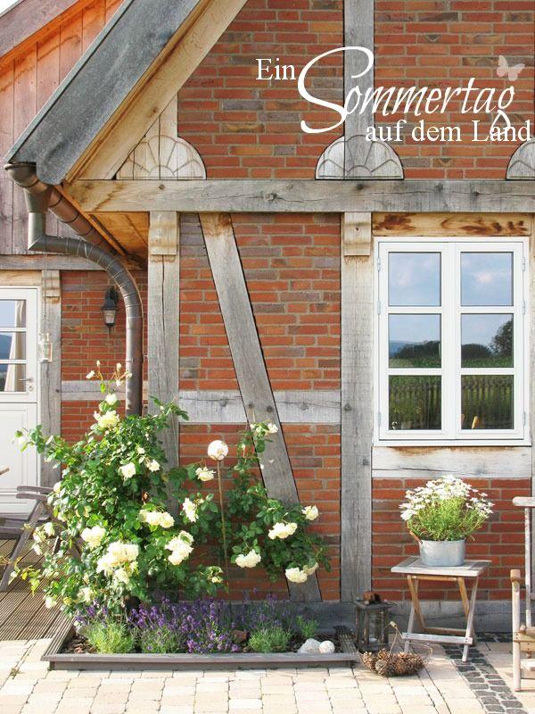 love the little border in front of the house garten garden haus landhaus und gartenhaus. Black Bedroom Furniture Sets. Home Design Ideas