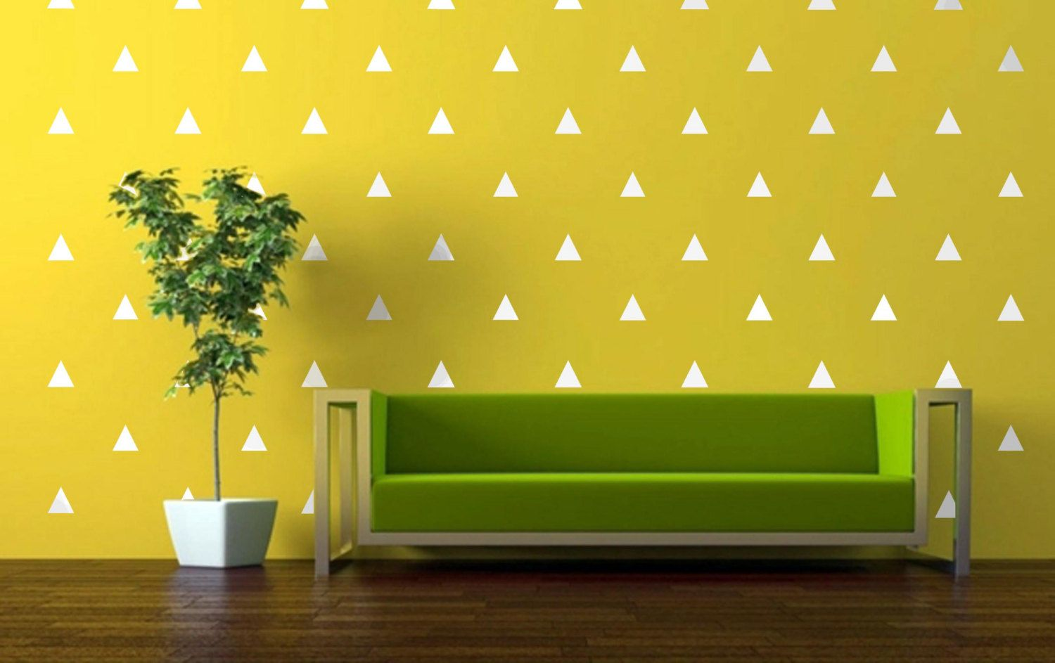 Gold Triangle Decals Vinyl Wall Decals Triangle Decals Tribal Decals ...