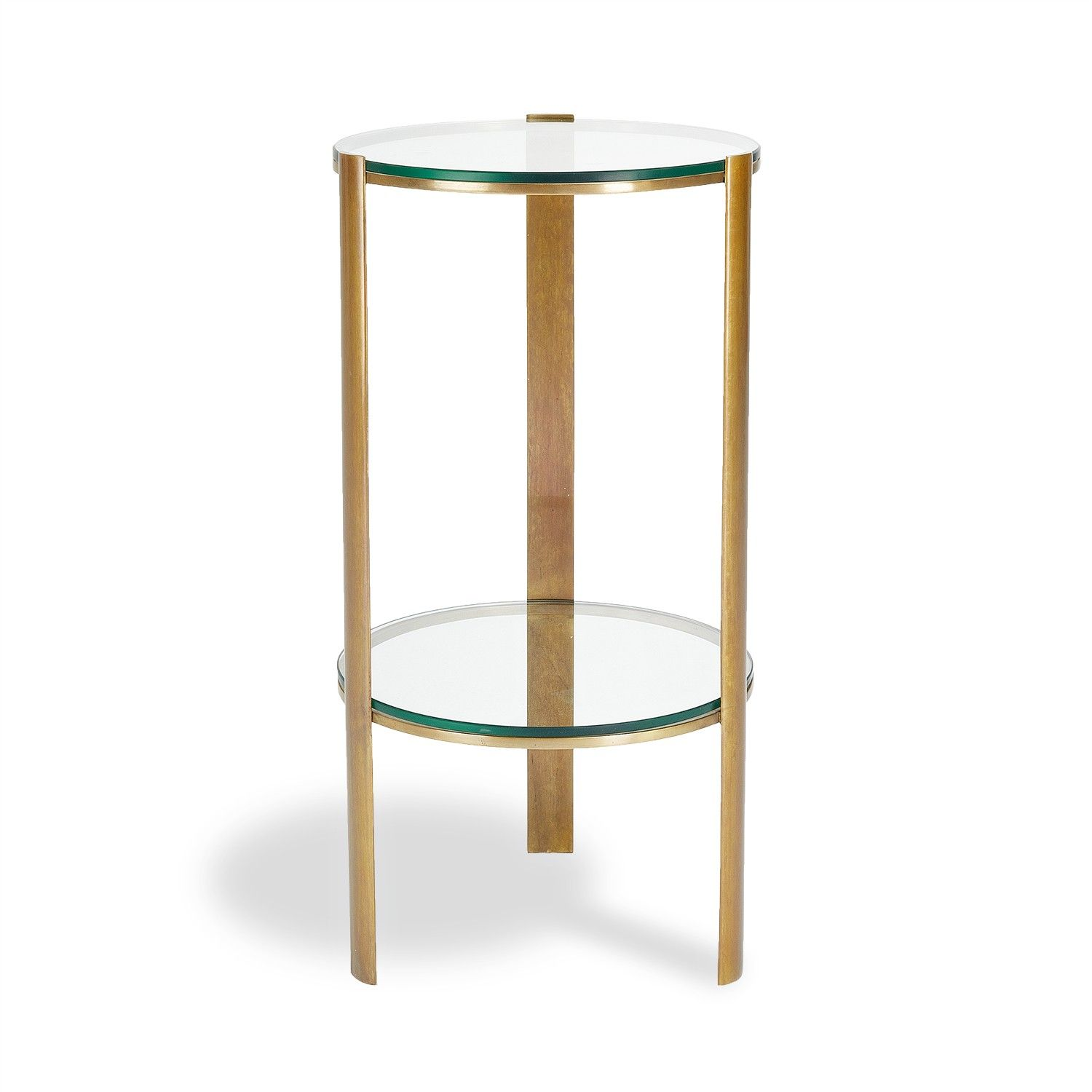 Beau Classic Brass Round Side Table
