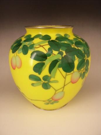 Japanese Early 20th Century Cloisonne Vase By The Ando Cloisonne